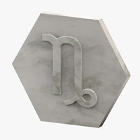 3D marble capricorn