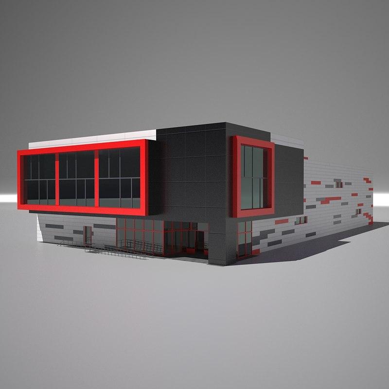 shop building 3D model