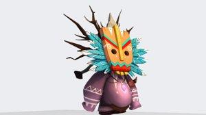 3D rigged cartoon character model