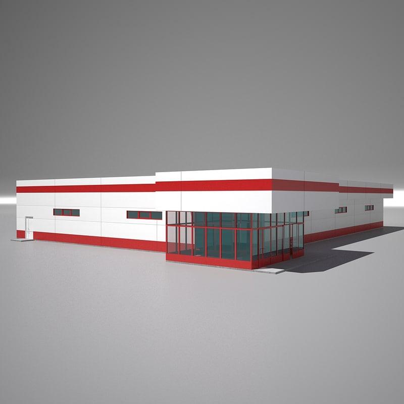 3D shop building 2 model