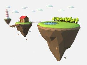 islands corona 3D model