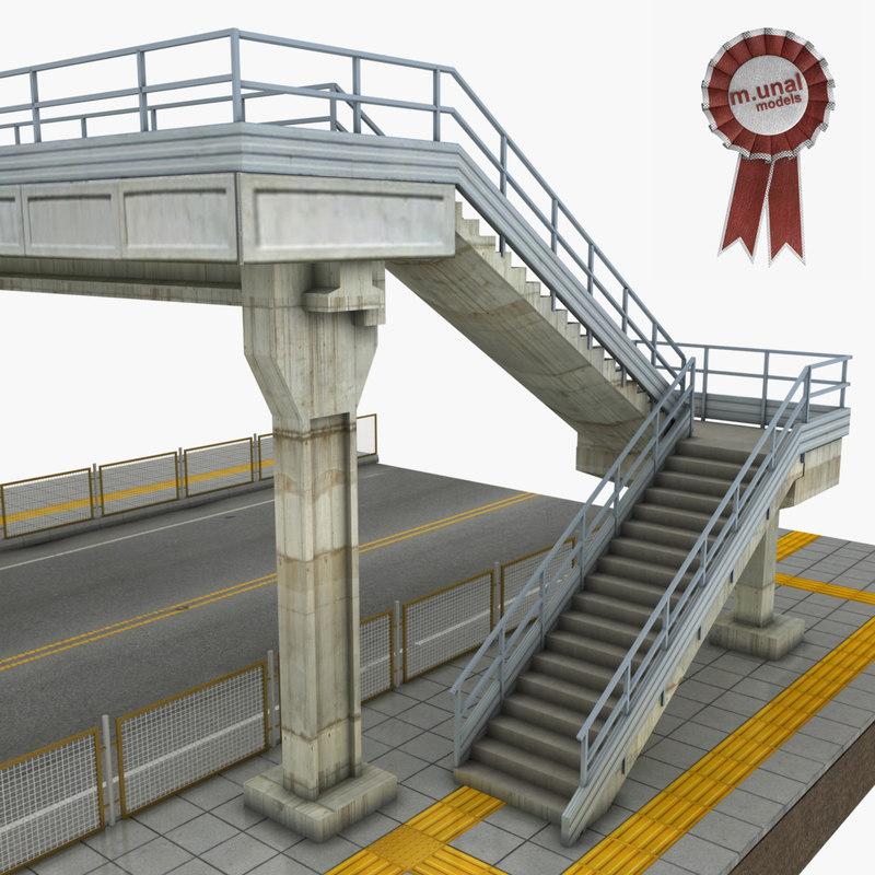 bridge pedestrian 3D model