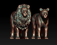 3D model lion lioness