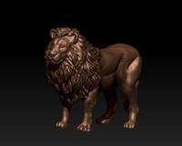 lion sculpture 3D model