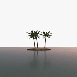 3D scene tropical island model