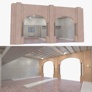 3D adobe garage interior