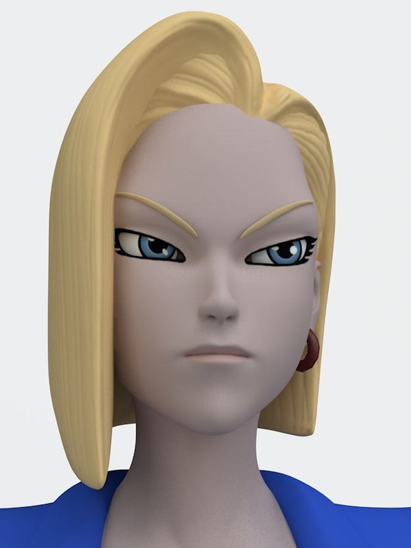 rigged android 18 3D