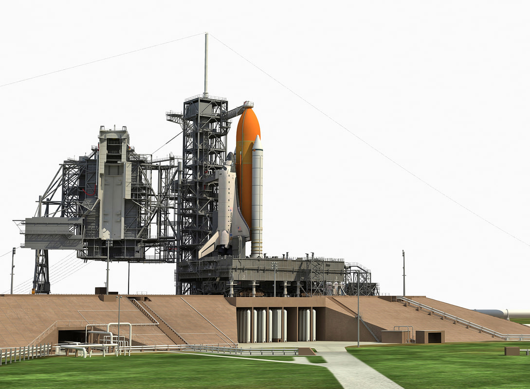 nasa launch complex 3D model