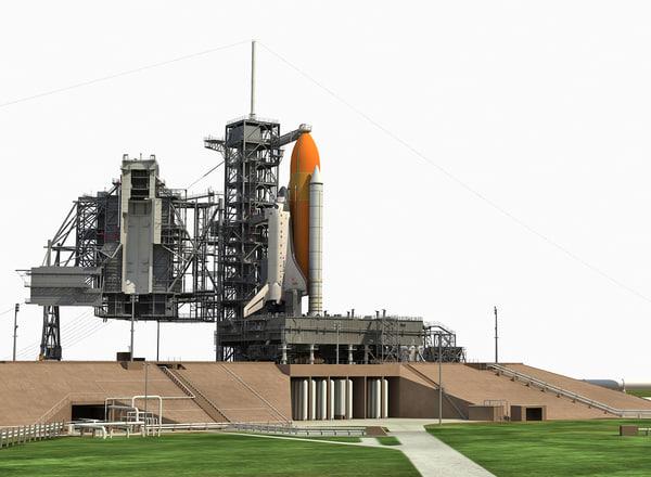 nasa launch complex 3D model