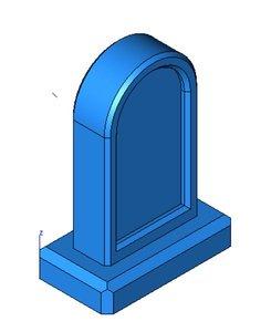 tombstone n scale 3D model