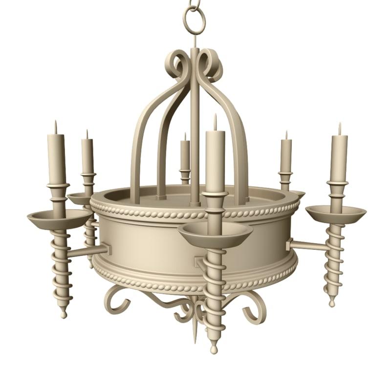 realistic chandelier 3D model