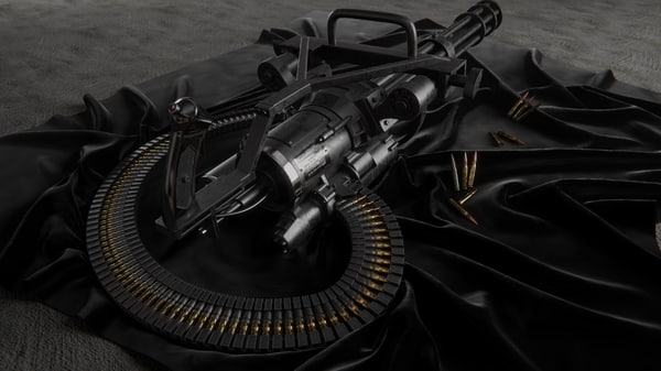 3D gun quixel pbr