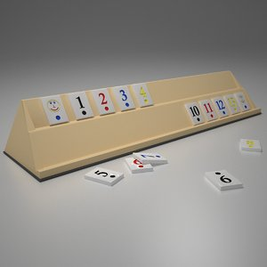 3D model rummy blue red