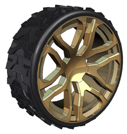 hummer alloy wheel 3D model
