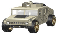3D model army hummer