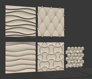 wall panels 3D