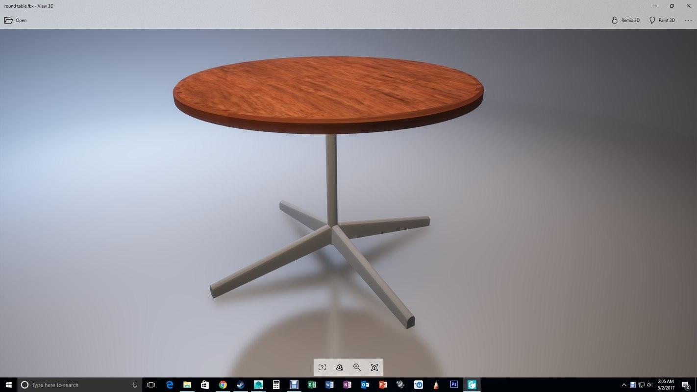 kitchen table 3D model