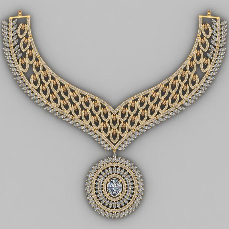 3D necklace model