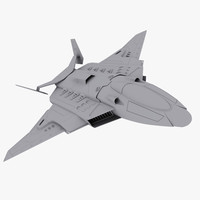 stealth fighters space spaceship model