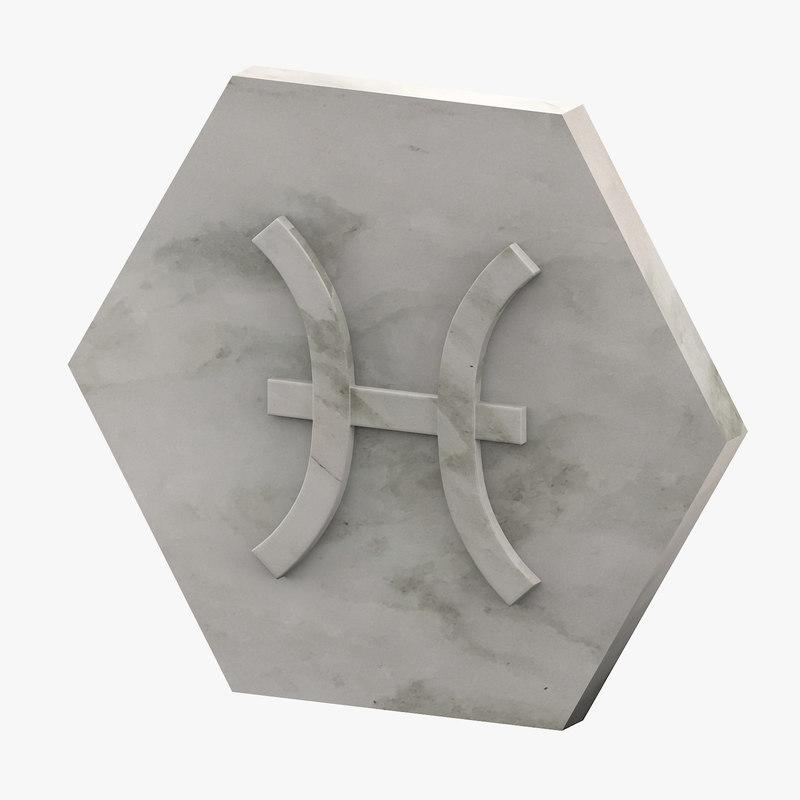 3D marble pisces