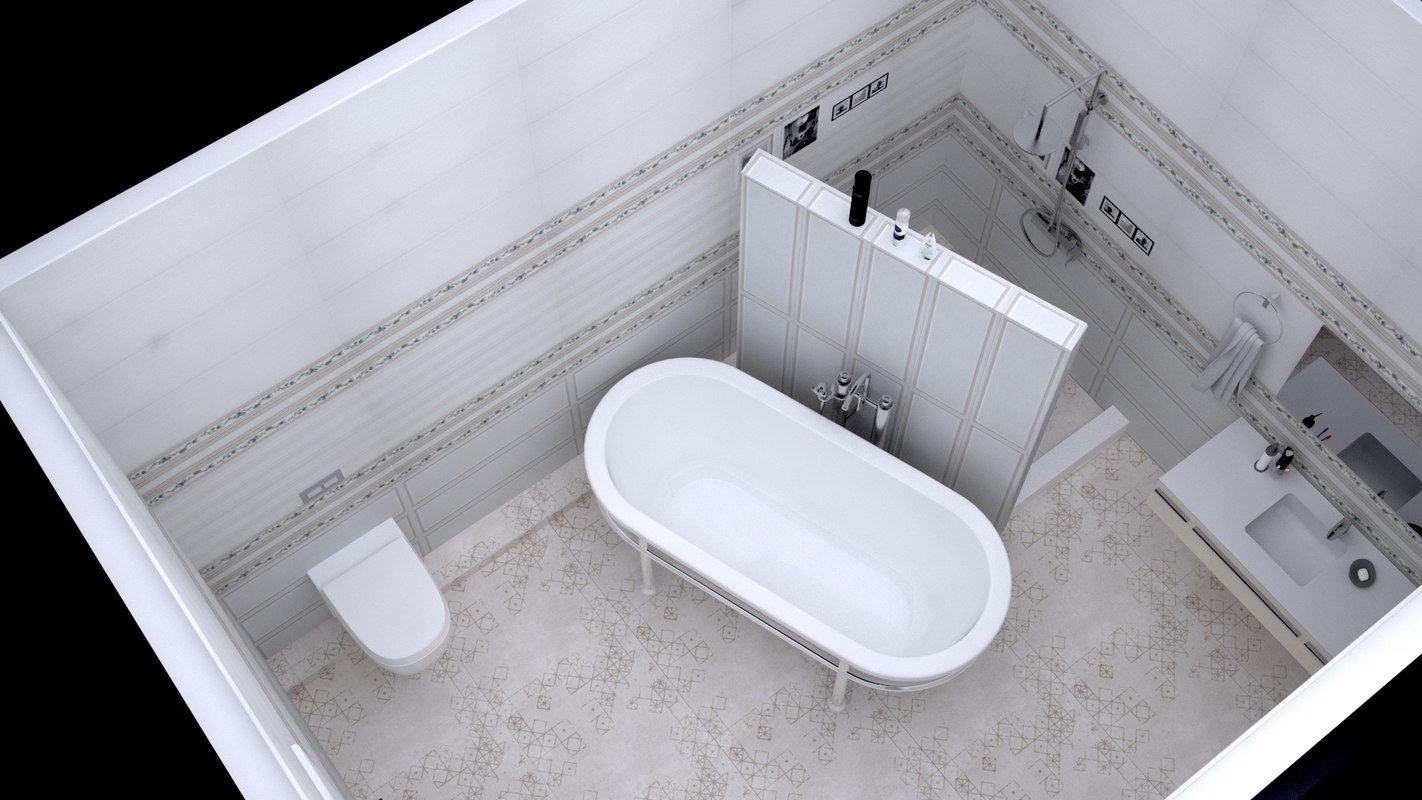 bath set furniture 3D model