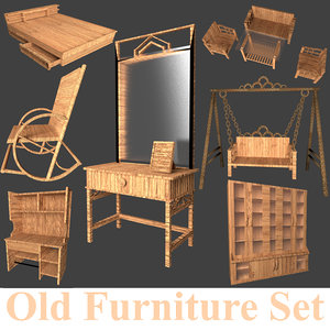 old furniture set 3D model