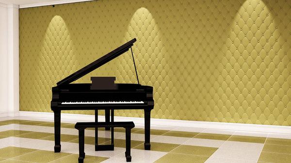 piano wall panel 3D model