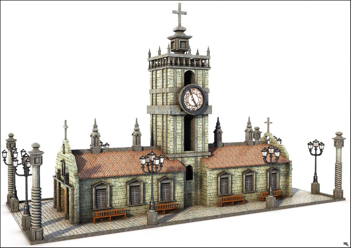 church catholic 3D model