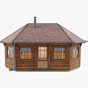 gazebo house 3D