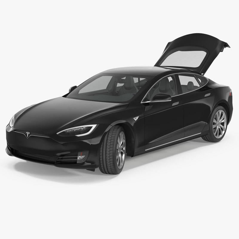 tesla s 75d 2017 3d model turbosquid 1153089. Black Bedroom Furniture Sets. Home Design Ideas