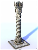 3D ancient column