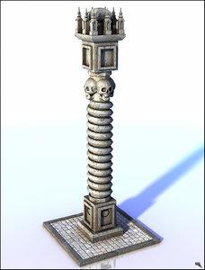 3D ancient column