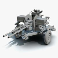 3D low-poly zu-23-2