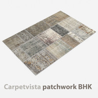 wool modern carpet rug 3D model