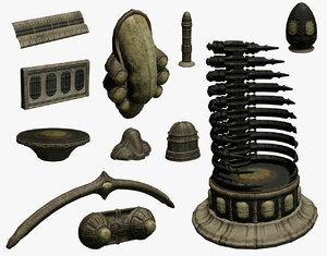 alien set 3D