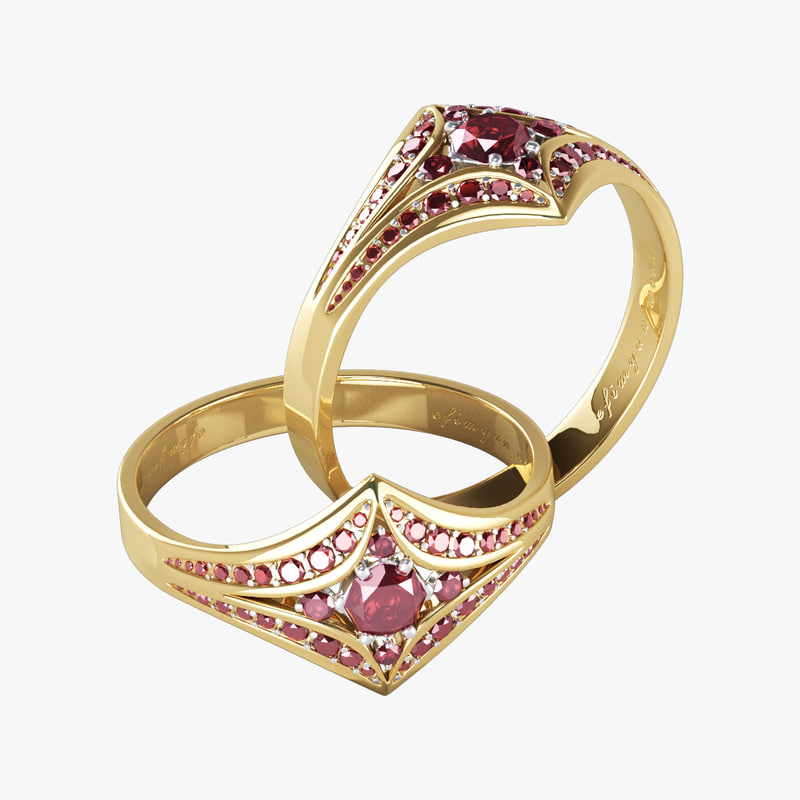 3D jewerly ring model