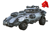 apocalyptic car 3D model