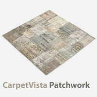 3D model wool modern carpet rug