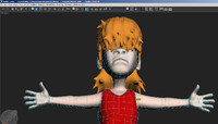 3D metalhead kid