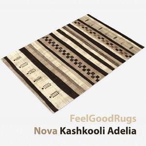 wool modern carpet rug 3D model