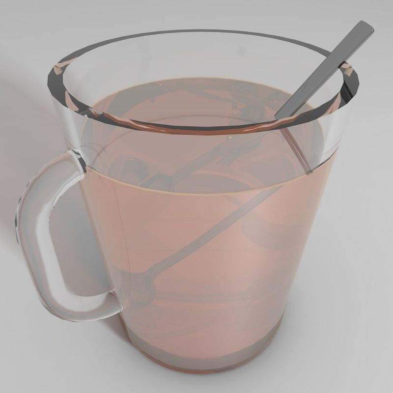 3D glass tea