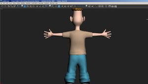 3D punk kid model
