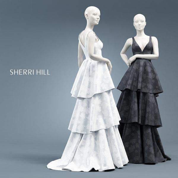mannequin dress 3D model