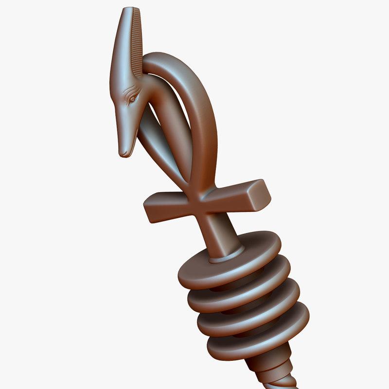 3D egyptian scepter model