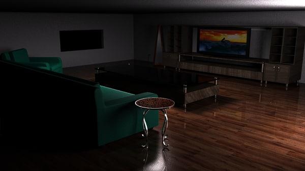 modern living room interior model