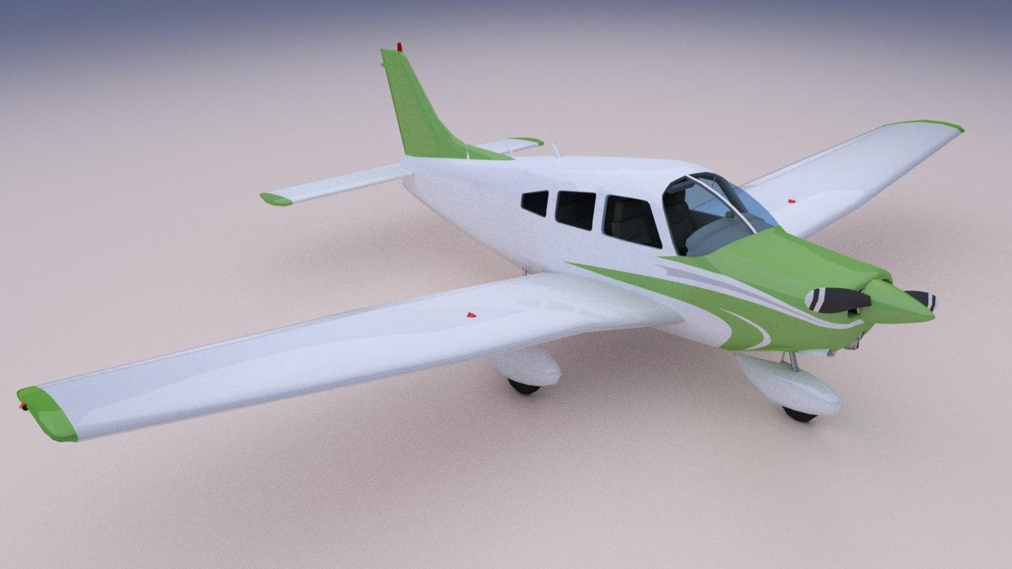 pa28 instruments panel 3D model