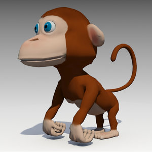 monkey animations 3D model