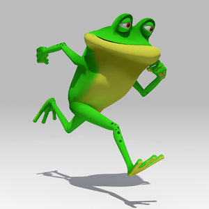frog toon animations 3D model