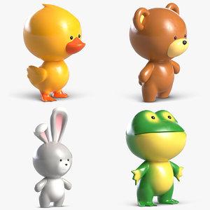 3D toys animal pack 2 model