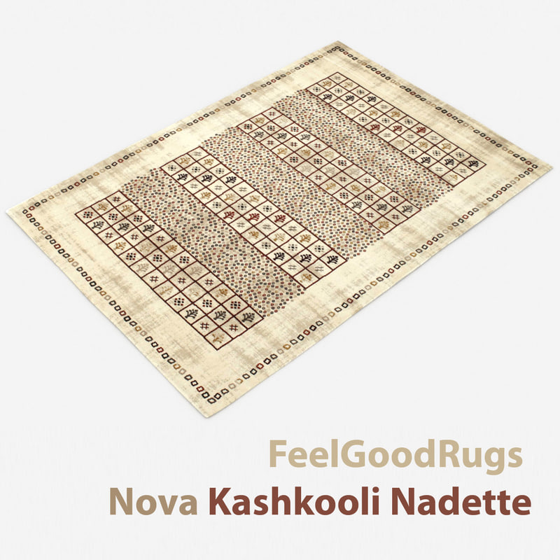 3D wool modern carpet rug